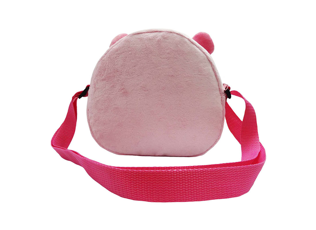 Pinky Piggy shoulder bag for children back