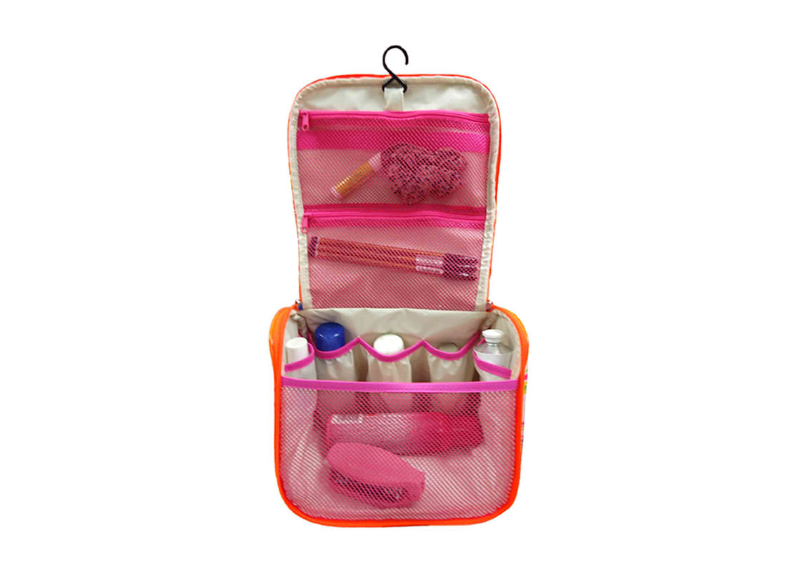 Organize Beauty Bag with Hanging Hook Open