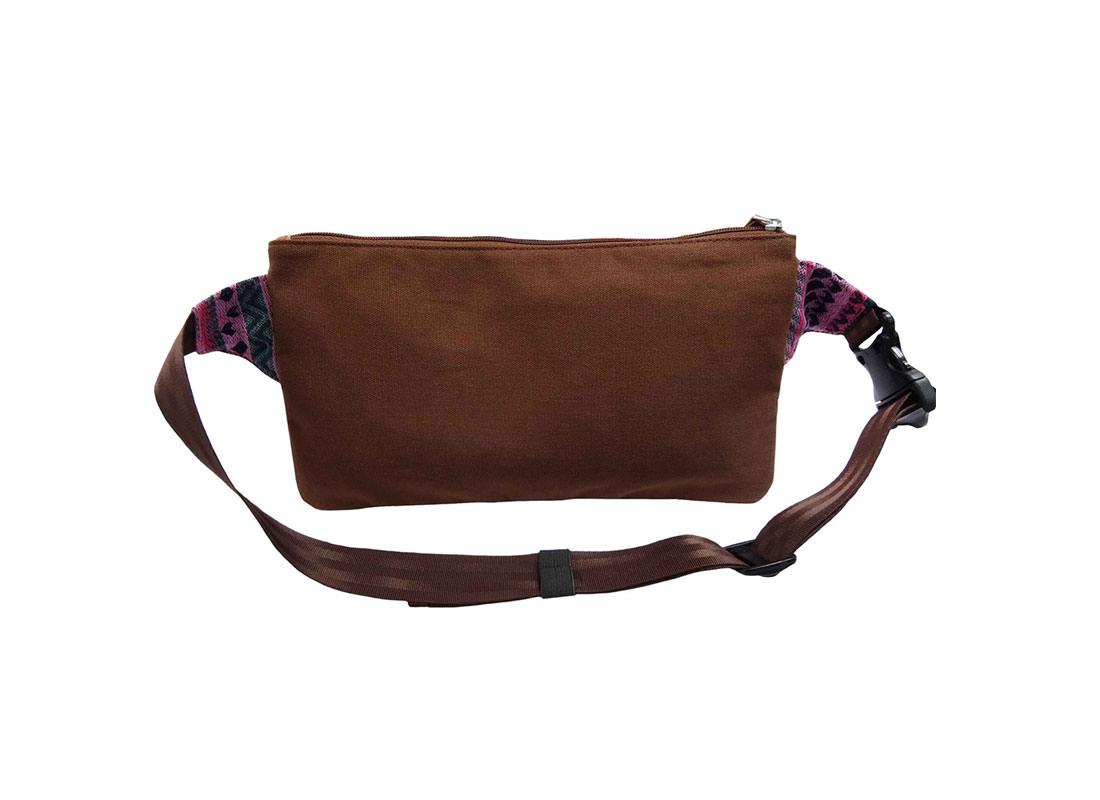 Folk Style Pattern Waist Pack for Women back