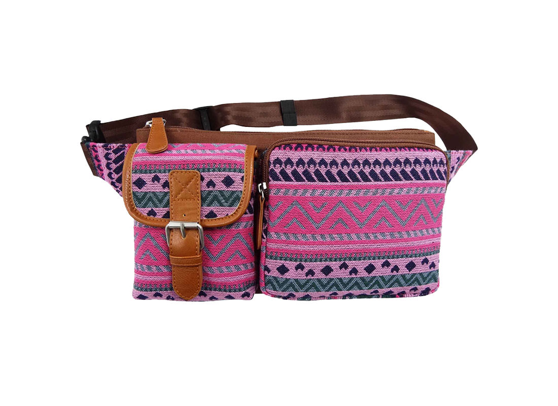 Folk Style Pattern Waist Pack for Women
