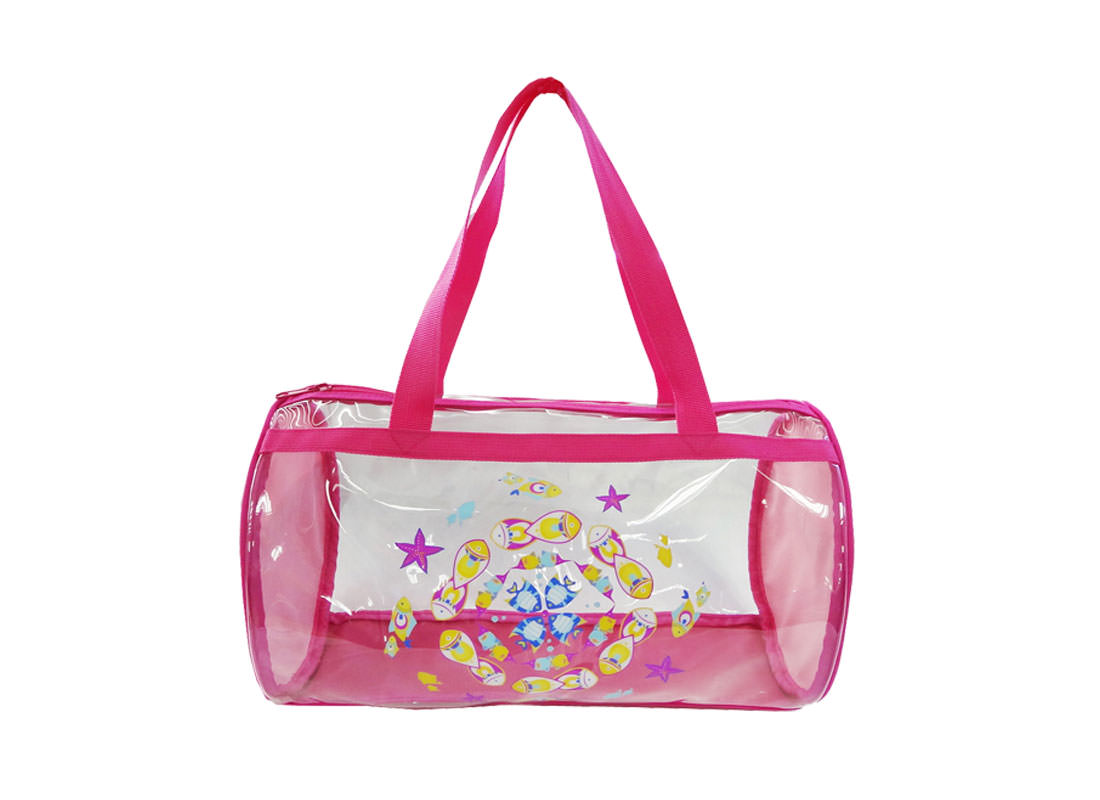 Transparent Duffel Bag with fish print for Children