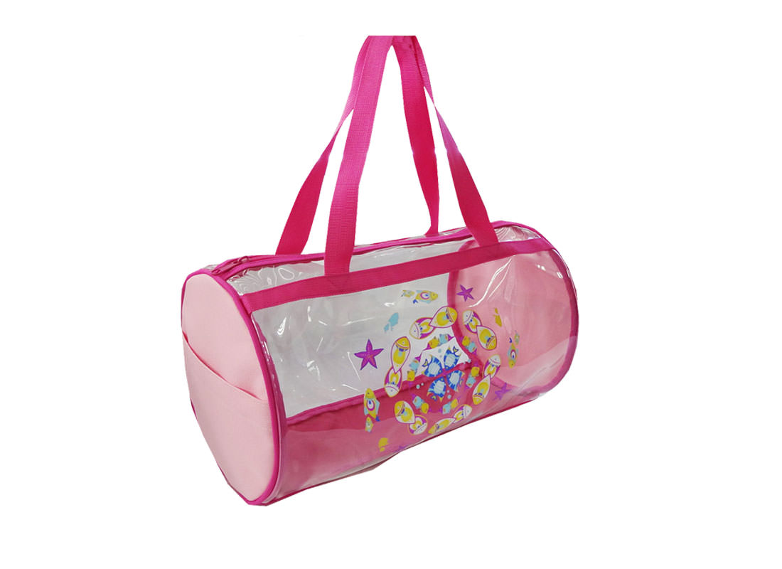 Transparent Duffel Bag with Fish print for Children Side
