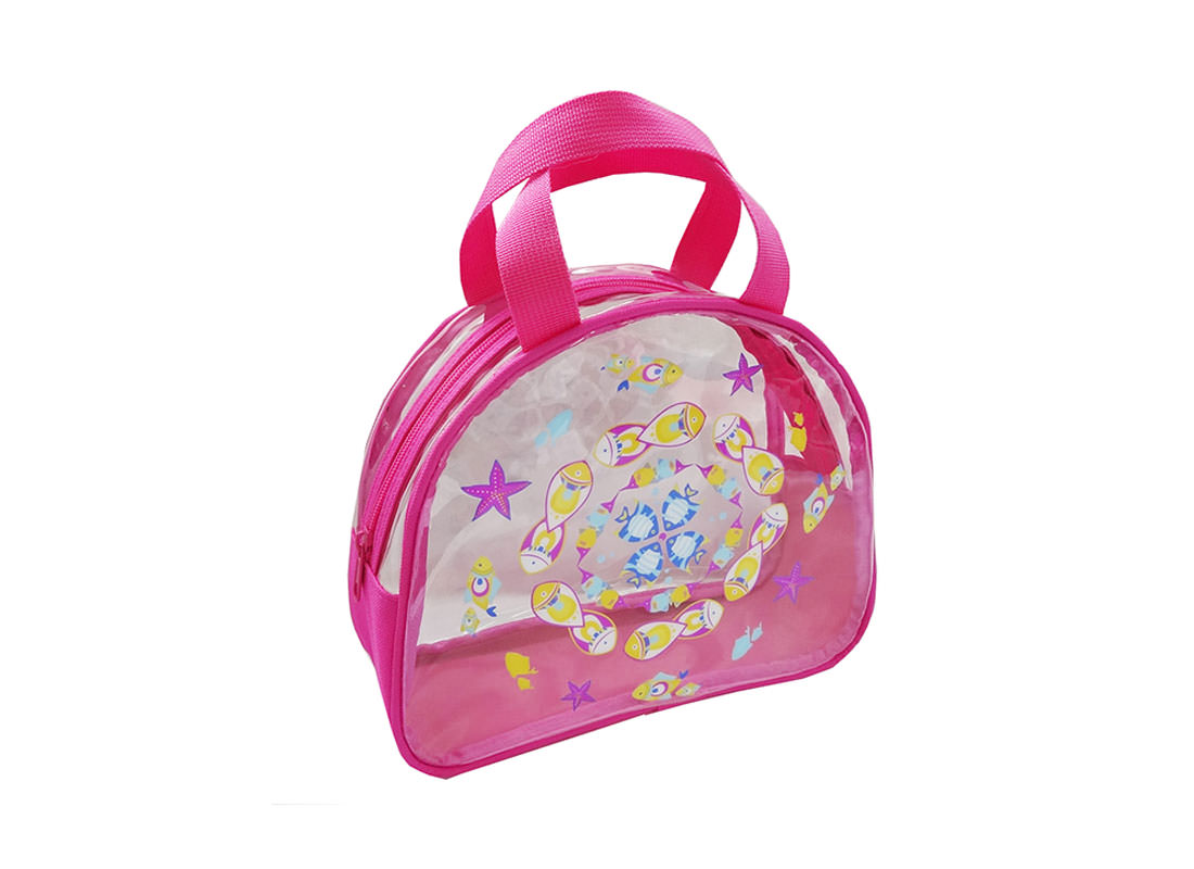 Transparent Bag with Fish Print for Children Side