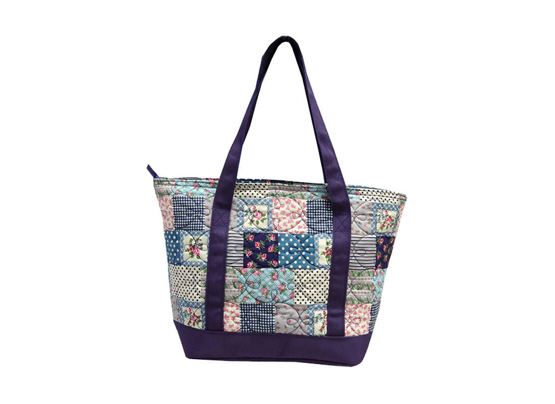 Quilted Patchwork Tote back