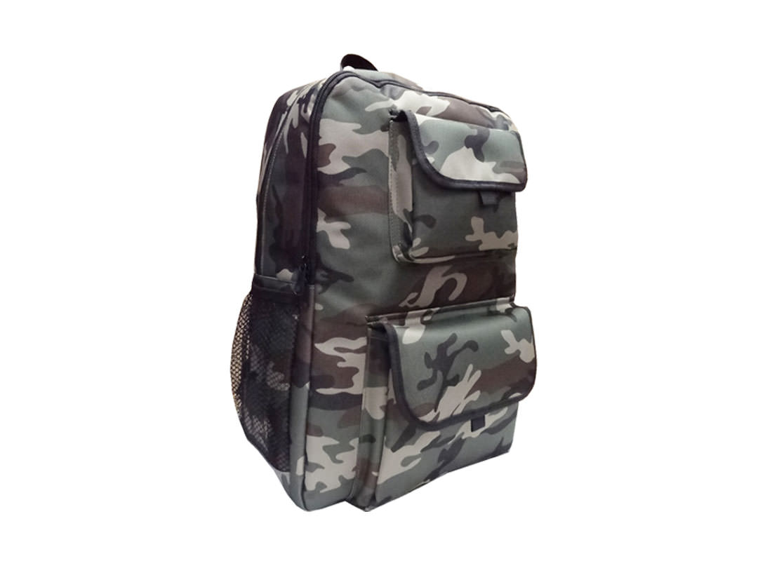camouflage pattern backpack L side