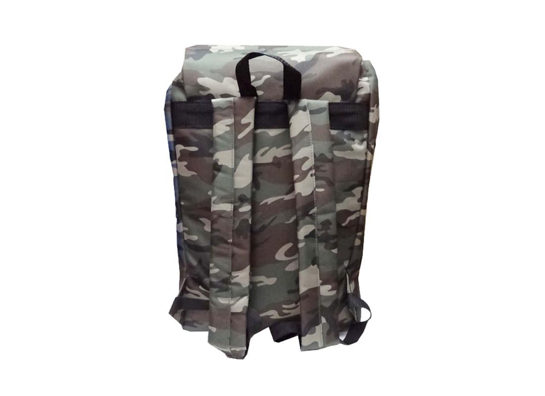 camouflage backpack back