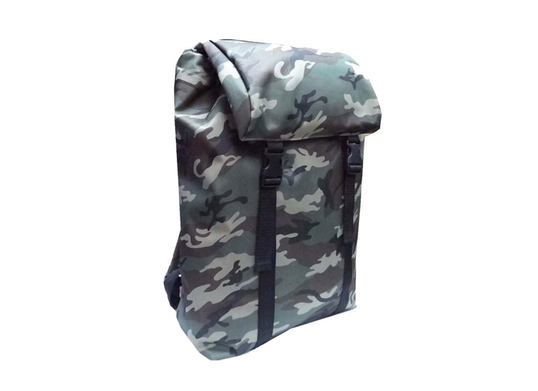 camouflage backpack L Side