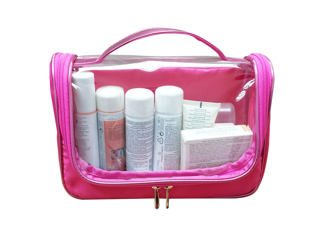 Transparent Cosmetic Bag with Handle