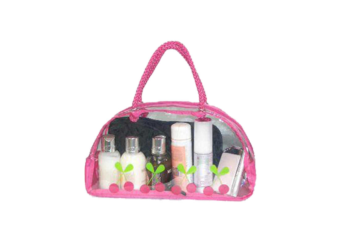 Transparent Makeup Pouch Pink