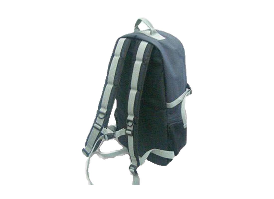 Backpack for men in Black & Orange Trimming Back