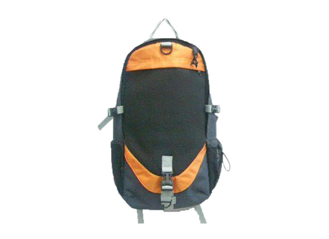 Backpack for men in Black & orange trimming