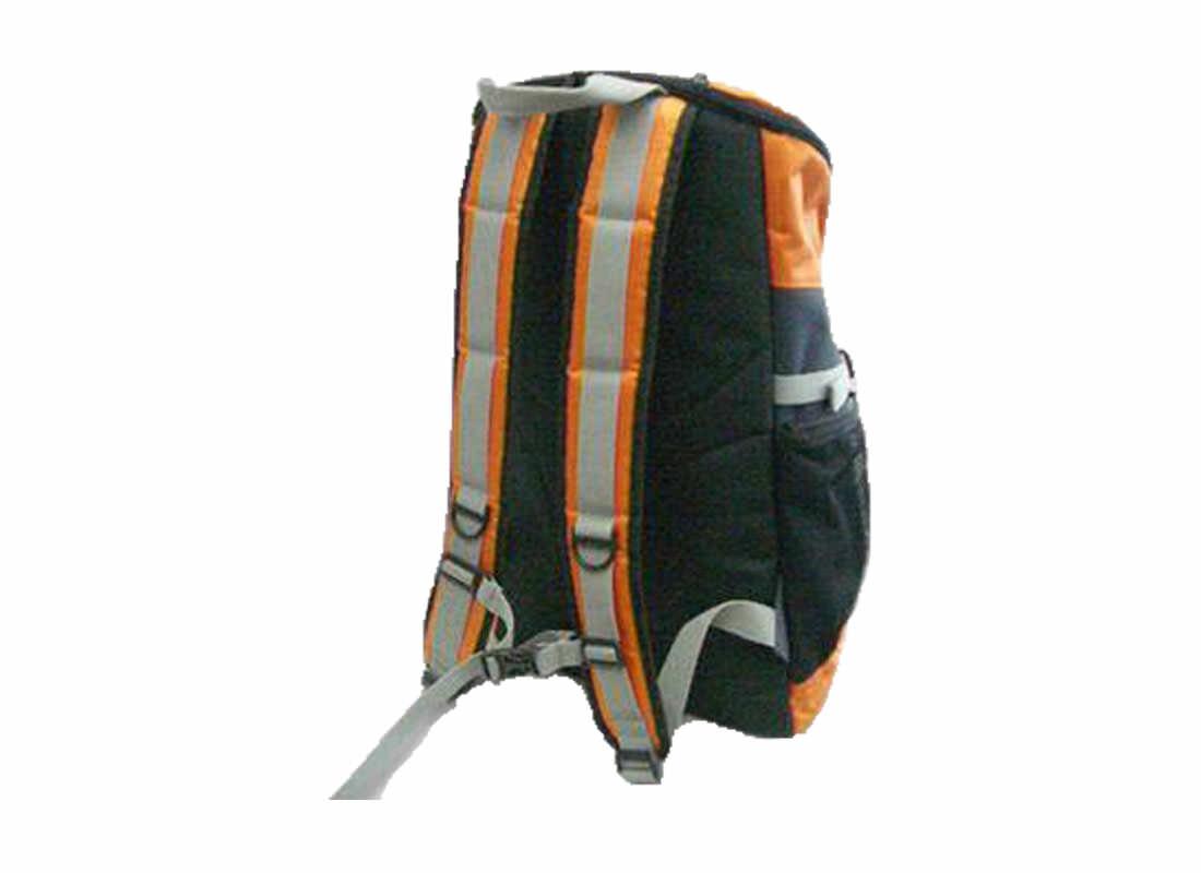 Large Backpack in Orange & Black Back