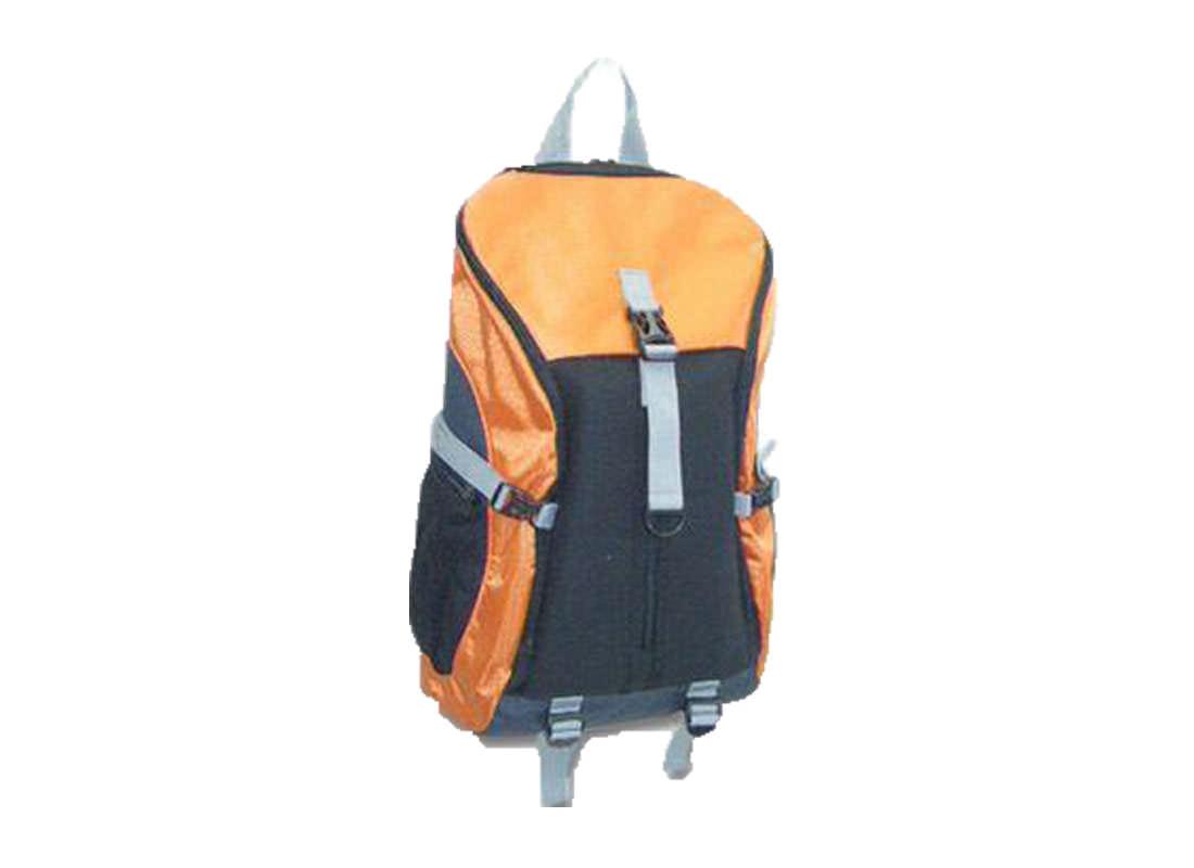 Large Backpack in Orange & Black Side
