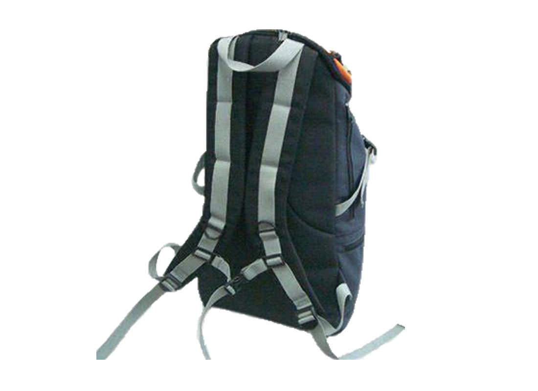 Outdoor Backpack in Orange & Black Back