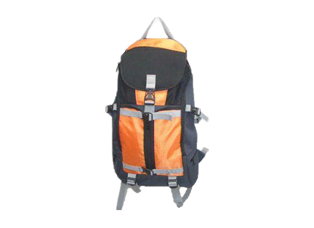 Outdoor Backpack in Orange & Black