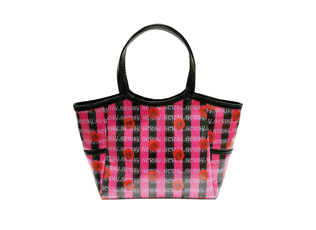 Mini Tote Cosmetic Bag with Rose printing