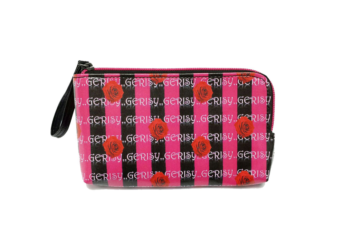 Zipper Money Pouch with Rose printing