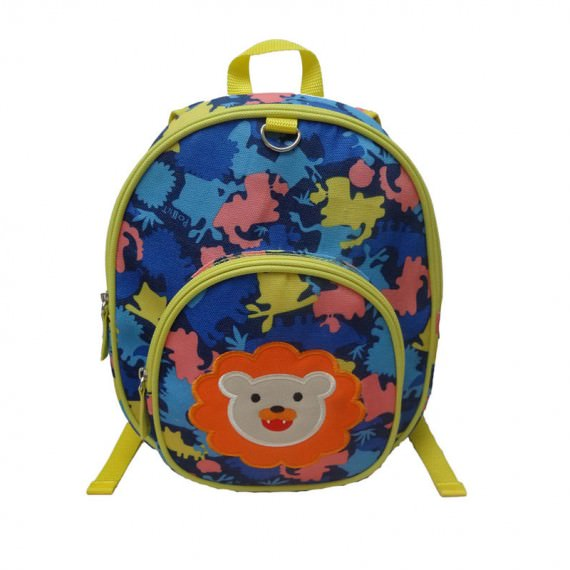 Children Camo Backpack with lion patch