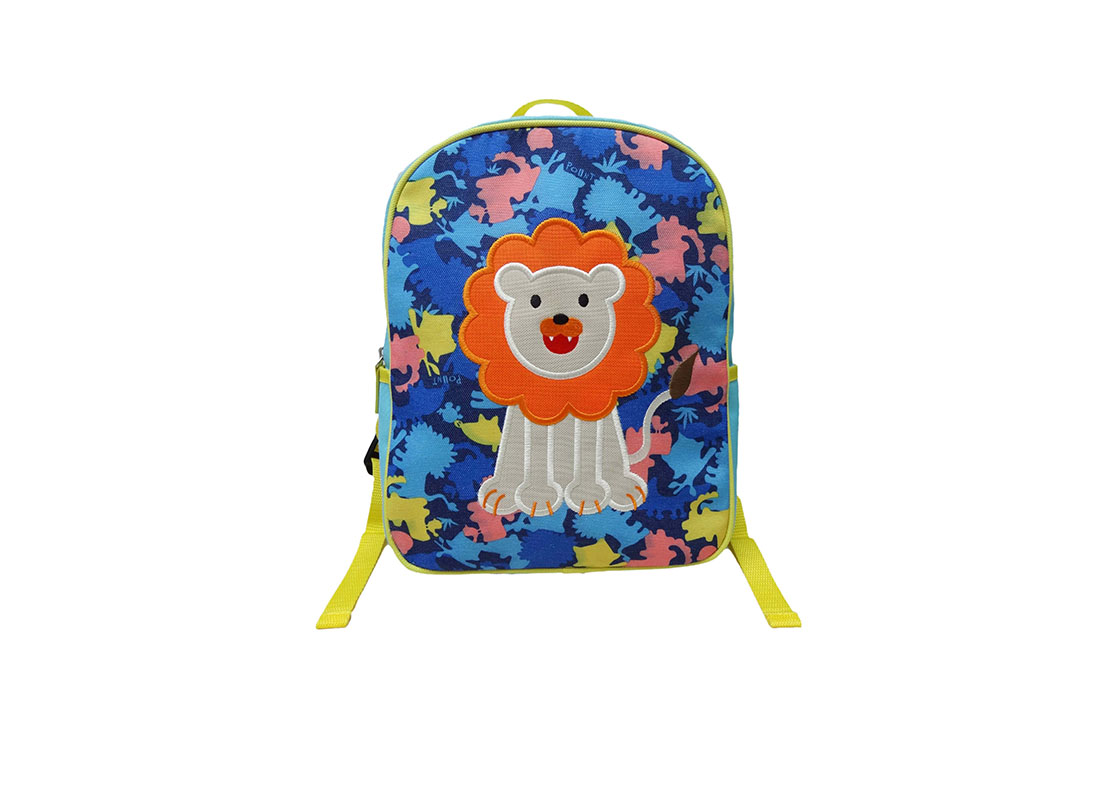 Kids Camo Backpack with lion patch