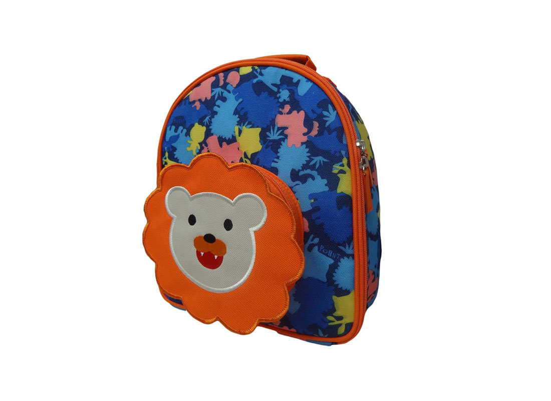 Camo Lunch Bag with Lion Front Pocket R Side
