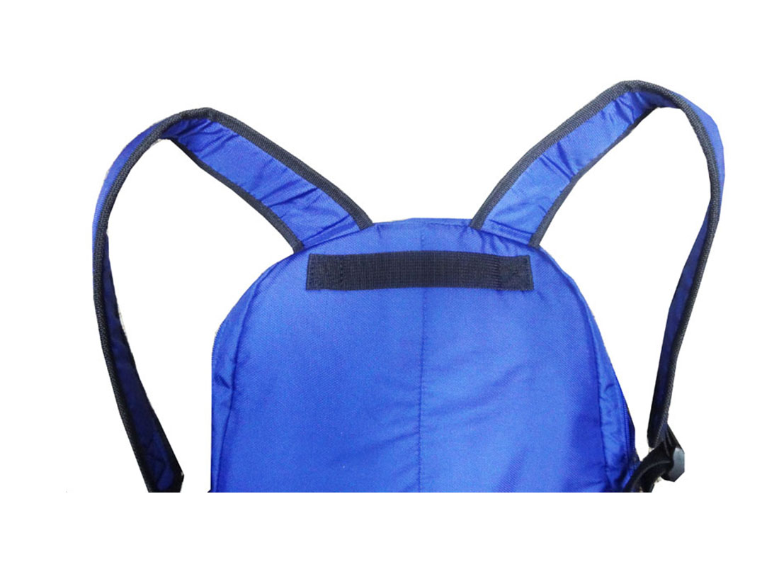 Sporty Backpack in Blue & Red Handle