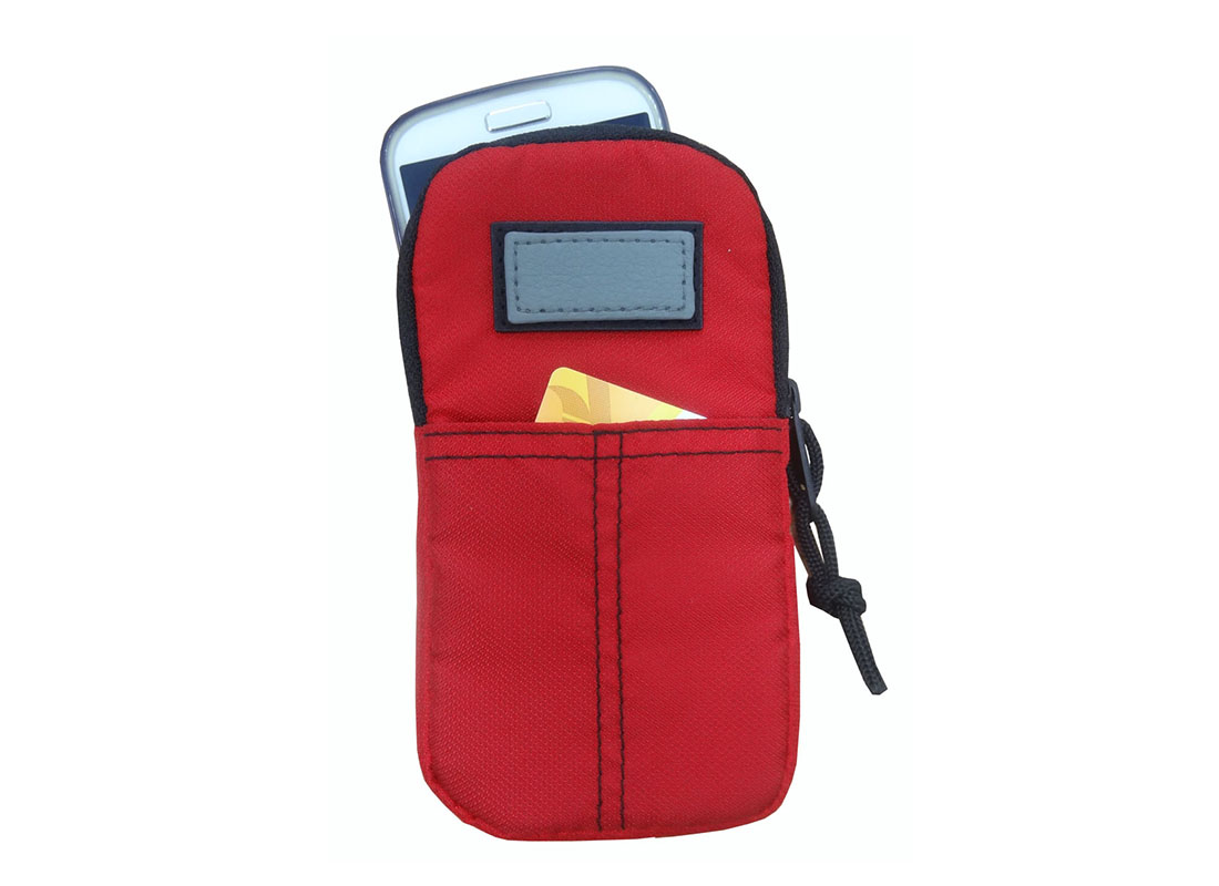 Cellphone pouch in red