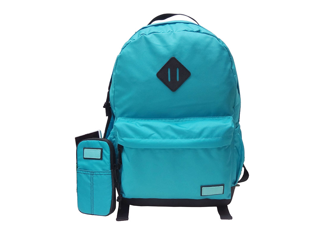 Casual Backpack in Blue with cellphone pouch