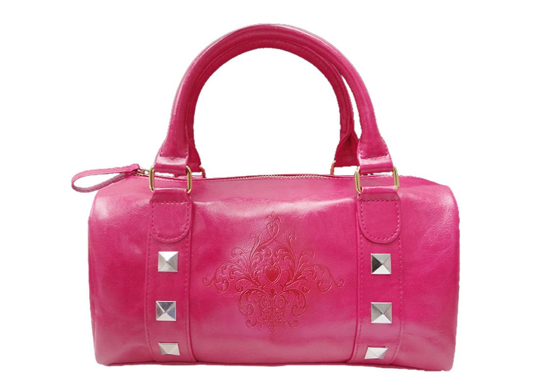 Mini Boston Bag with embossed graphic