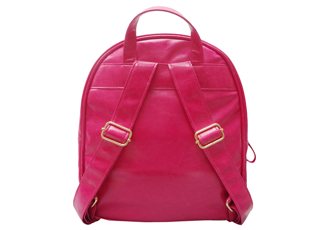 Mini Backpack for women with embossed graphic back