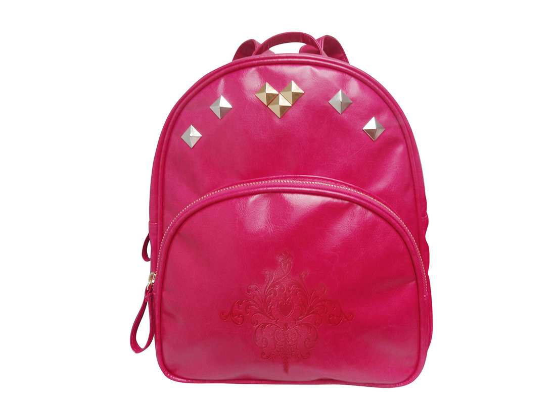 Mini Backpack for Women with embossed graphic