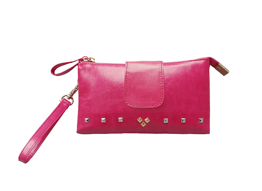 Two compartment Pouch in pink