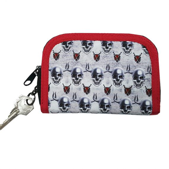 Coin Purse for Men with Skeleton Printing