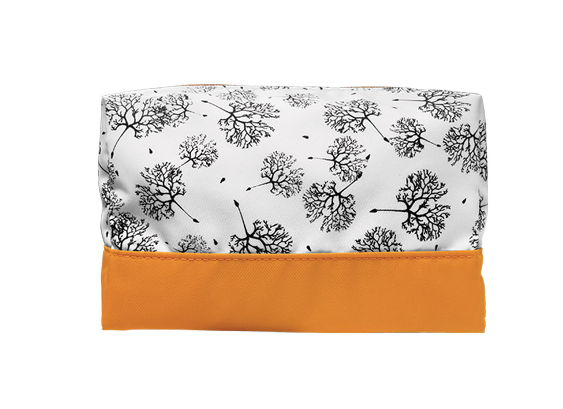 Large Cosmetic Bag with Dandelion Printing Pattern
