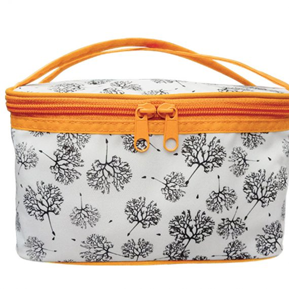 Square Cosmetic Bag with Dandelion Printing Pattern