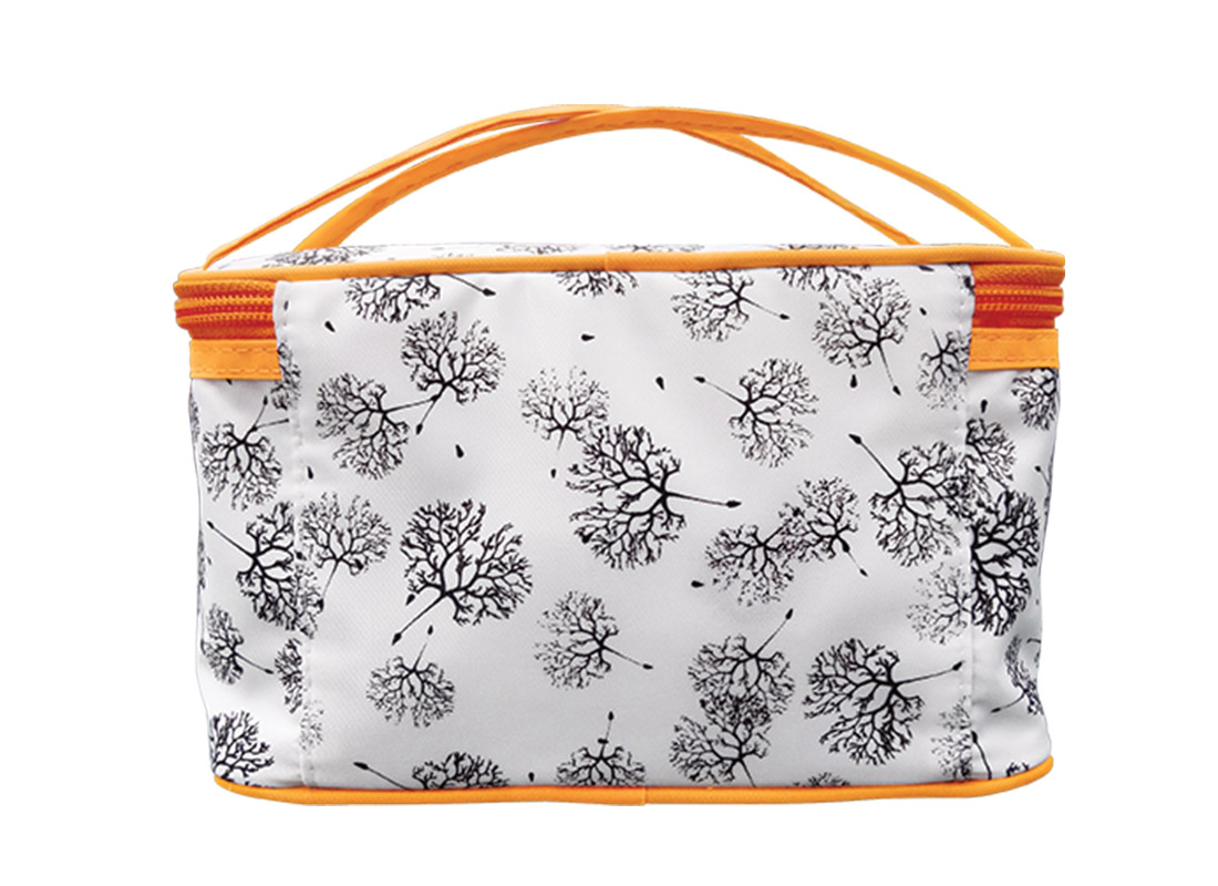 Square Cosmetic Bag with Dandelion Printing Pattern Back