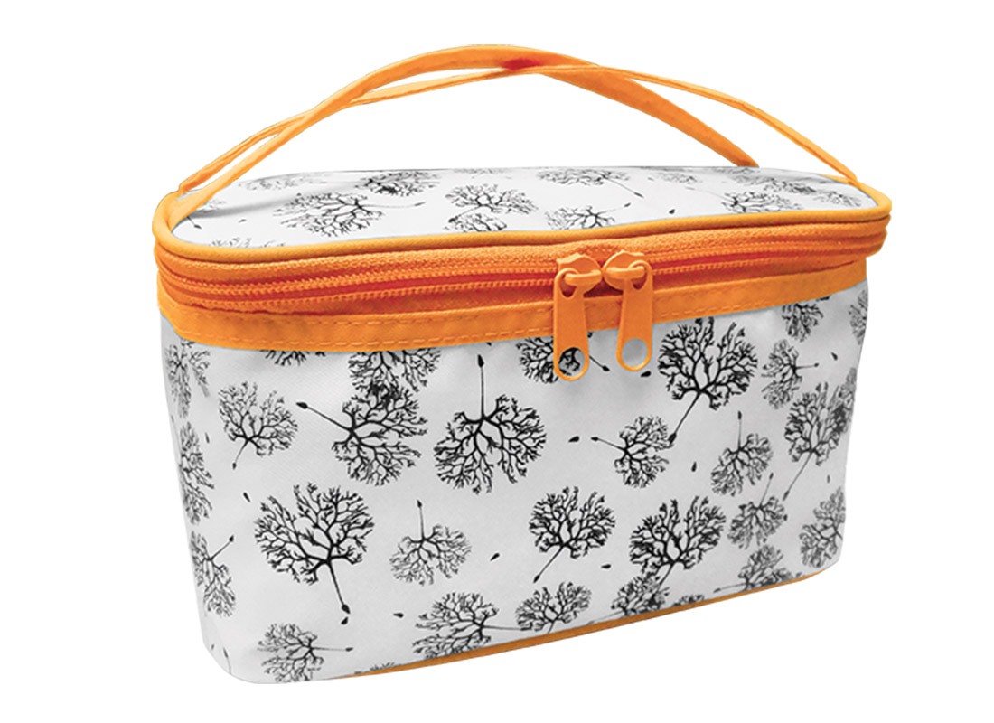 Square Cosmetic Bag with Dandelion Printing Pattern L Side