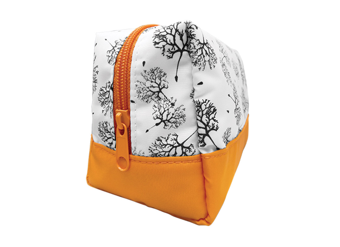 Large Cosmetic Bag with Dandelion Printing Pattern Side