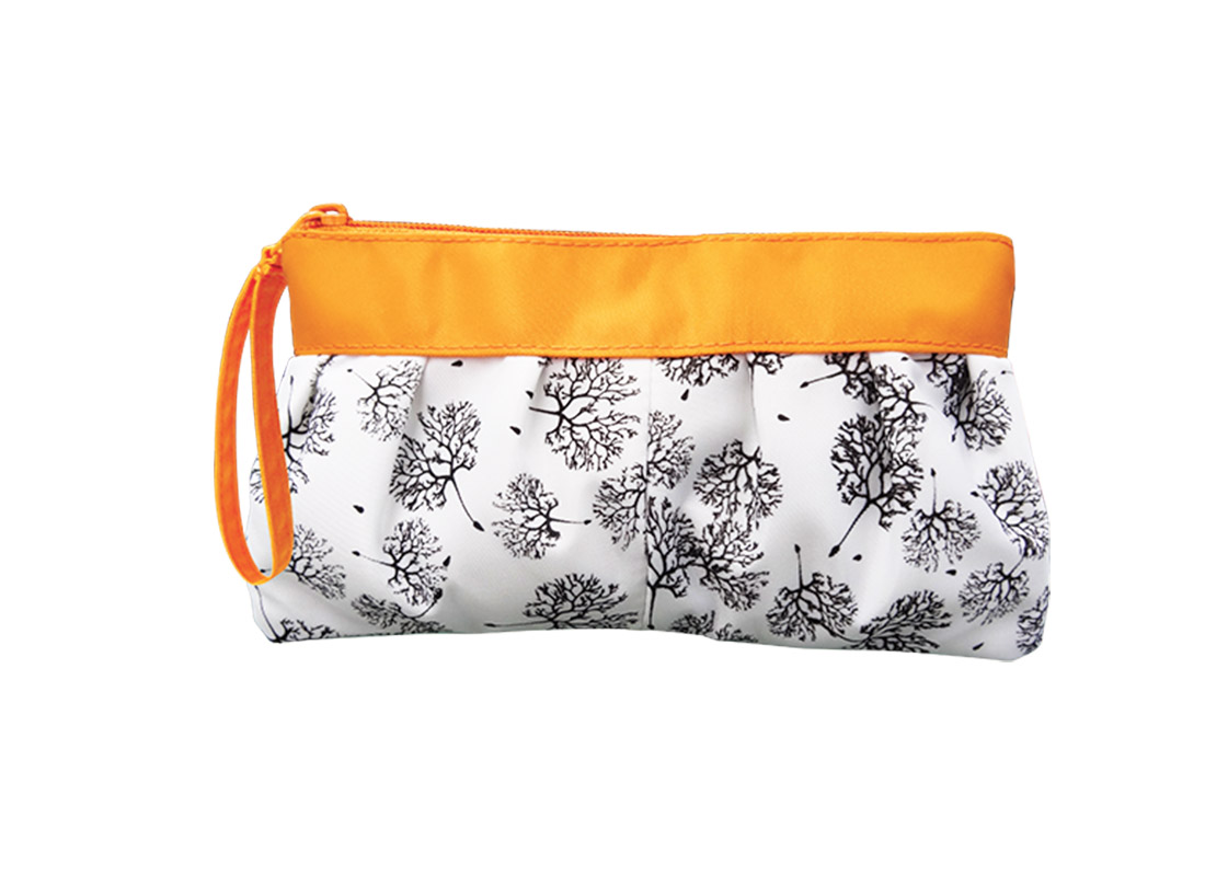 Long Makeup Pouch with Dandelion printing pattern