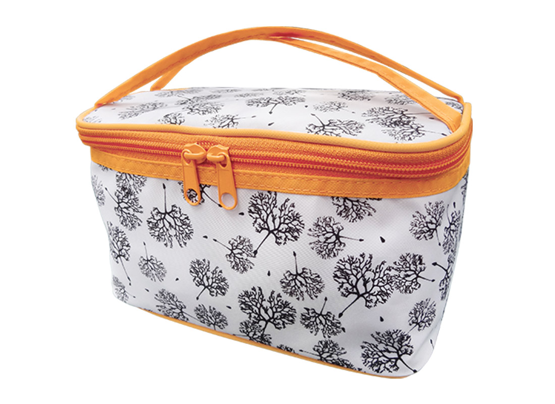 Square Cosmetic Bag with Dandelion Printing Pattern R side