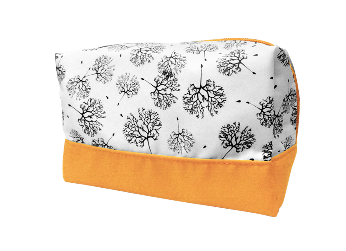 Large Cosmetic Bag with Dandelion Printing Pattern R Side