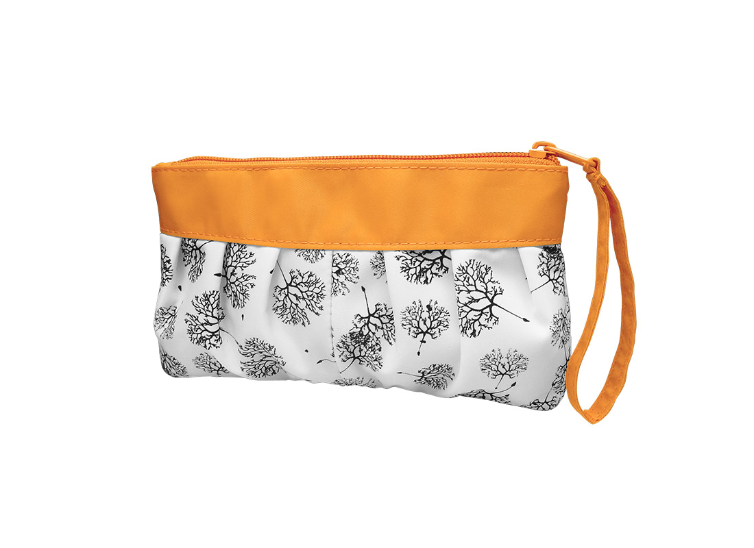 Long Makeup Pouch with Dandelion printing pattern R side