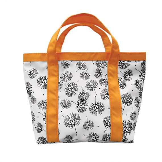 Mini Tote Bag with Dandelion printing pattern