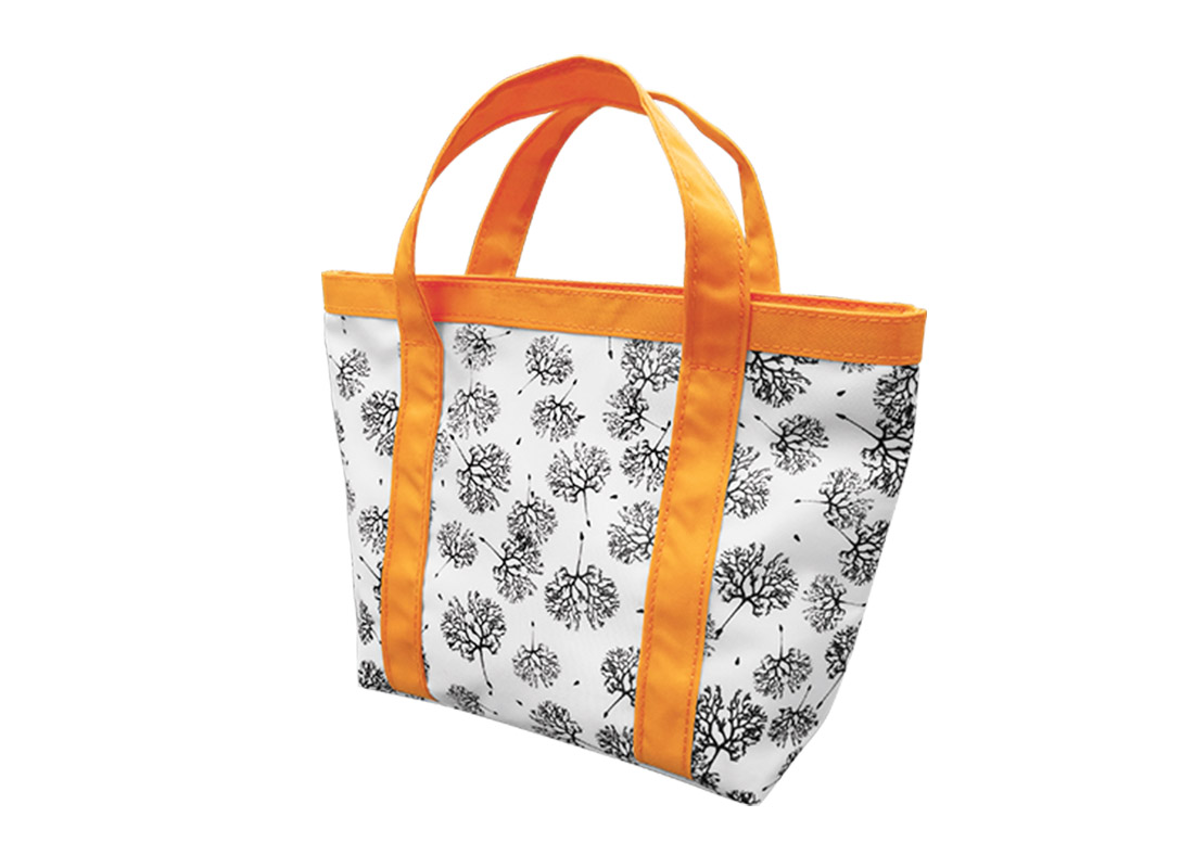 Mini Tote Bag with Dandelion printing pattern R side