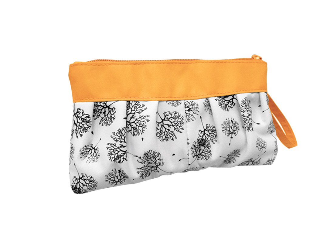 Long Makeup Pouch with Dandelion printing pattern L Side