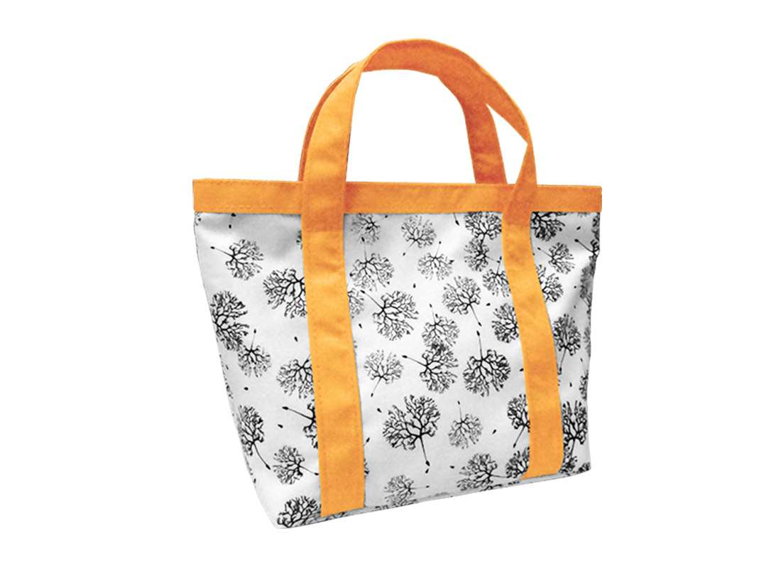 Mini Tote Bag with Dandelion printing pattern L side