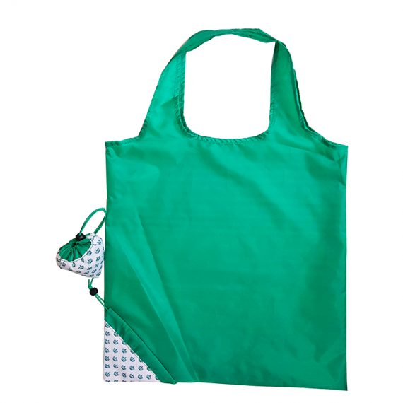 Folding Shopping bag in Green