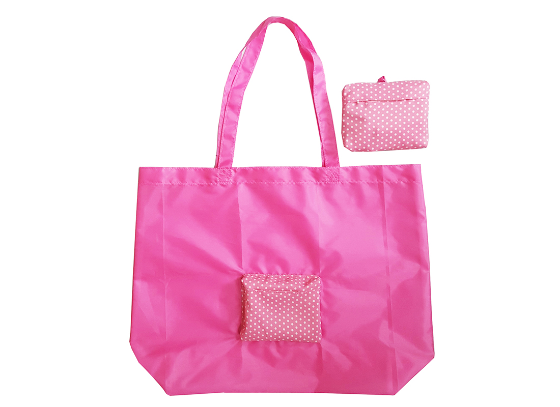 Foldable Reusable Shopping Bag in Pink