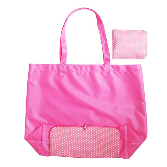 Foldable Shopping Bag in Pink