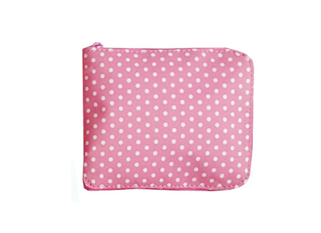 Foldable Shopping Bag in Pink Folded