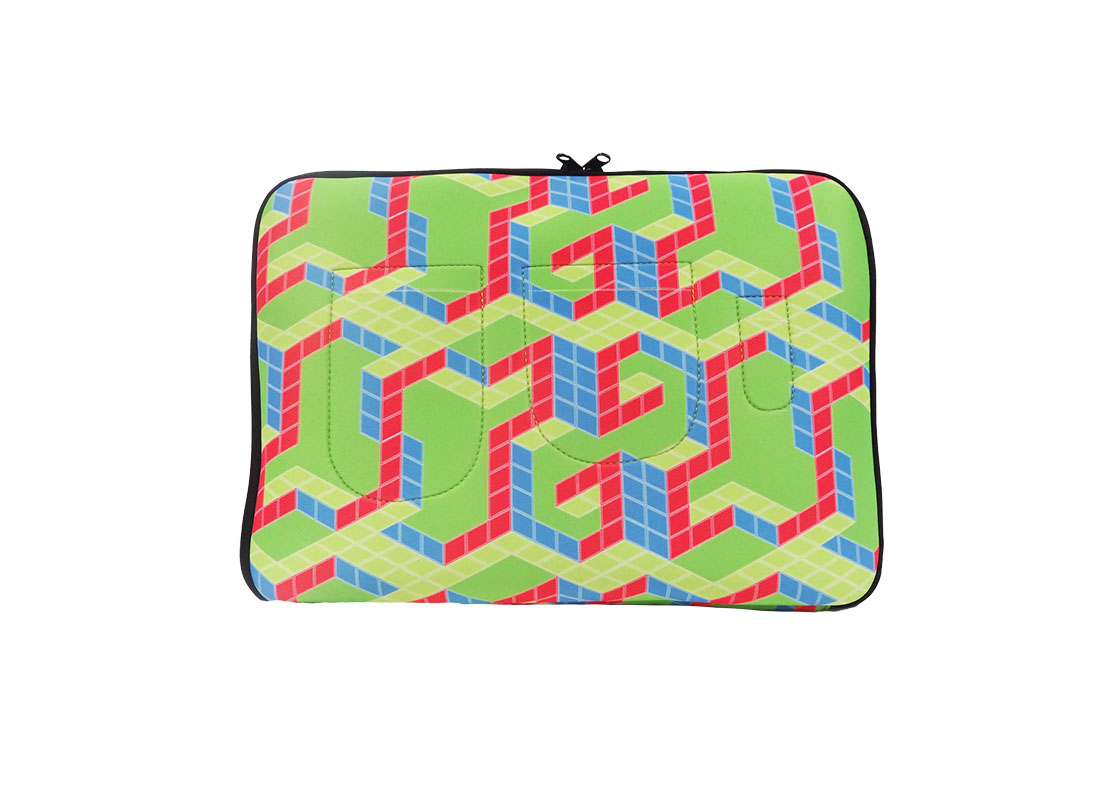 Neoprene Laptop sleeve with cubic printing